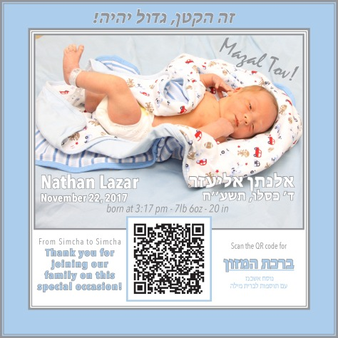 QR code table Card - Brit Milah