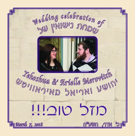 Website Intro - Yehoshua and Arielle